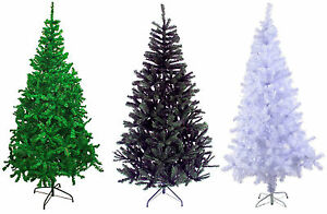 GREEN-WHITE-amp-BLACK-Traditional-Indoor-Artificial-Christmas-Xmas-Tree-Decoration