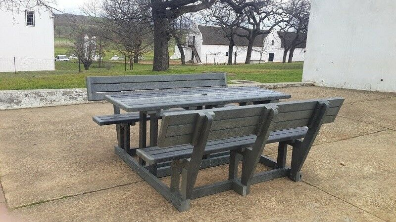 100 Recycled Plastic Outdoor Picnic Bench Sets Park