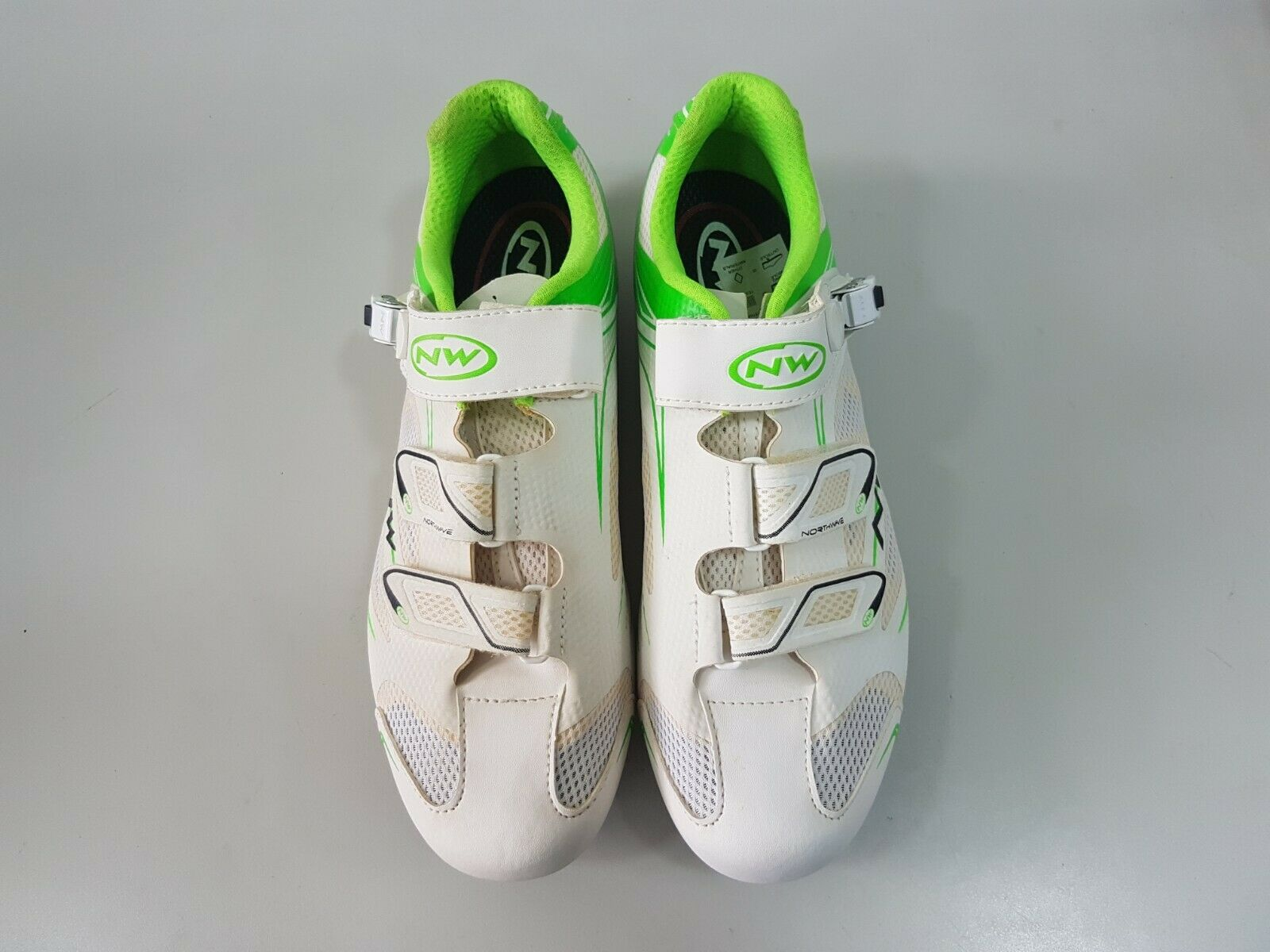 (Defect )Northwave Sonic SRS Men'sCycling shoes Neon White Green Size 43