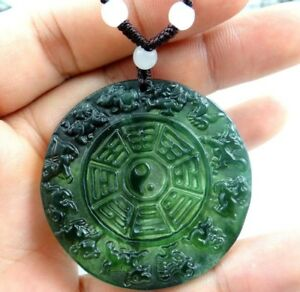 Beautiful-100-Chinese-jade-hand-carved-the-statue-of-Chinese-zodiac-PENDANT