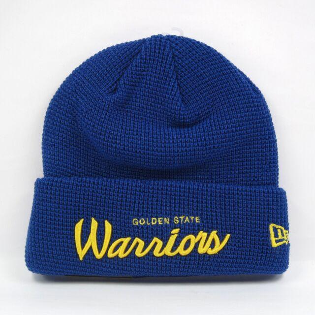 New Era Homme NBA Golden State Warriors Team Gaufre Cuff Knit Beanie Hat