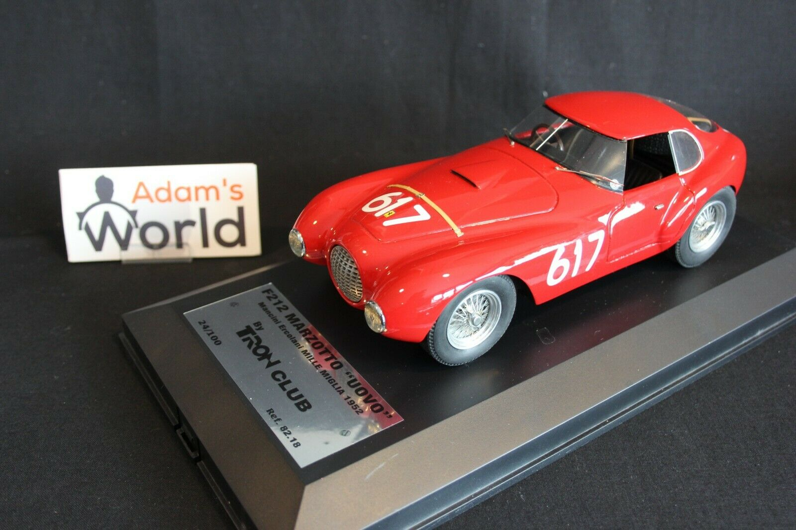 Tron Ferrari 212 Export Berlinetta Fontana  Uovo  1 18  617 Mille Miglia (PJBB)
