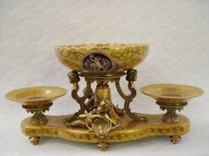 9973572-dss-Table-Centerpiece-Ceramics-Bronze-Historicism-Putto-27x25x55cm
