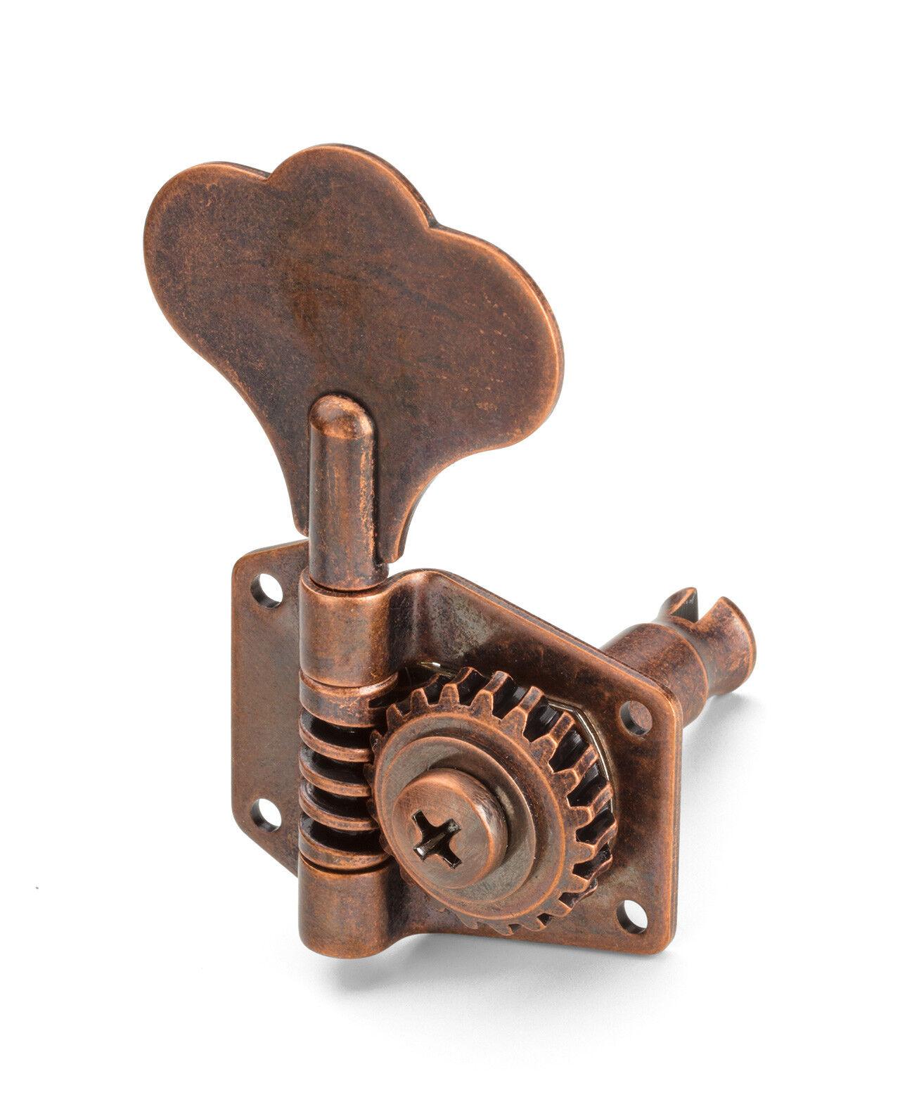 Meca Schaller Basse BM Reversibles P-J Bass MusicMan Tuners 2L 2R Vintage Copper