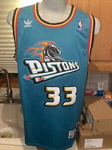 Details about Grant Hill Adidas Swingman Detroit Pistons Jersey Size S M Hardwood Classics