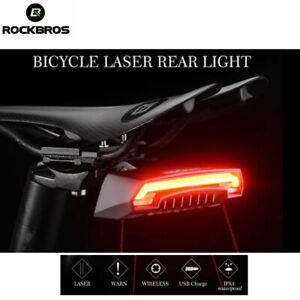 ROCKBROS Tail Light IPX5 Waterproof Warning Smart Light USB Recharge Rear Light