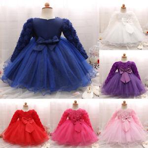 ChildKid Baby Girl Short Sleeve Mid-Calf Dress Wedding Pageant Bridesmaid Dressy