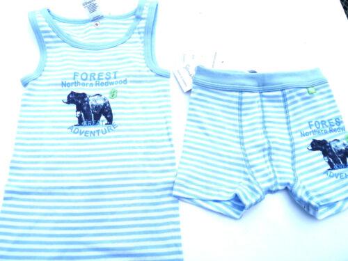 104-128 SANETTA tg blu a strisce V Biancheria Intima Forest orso