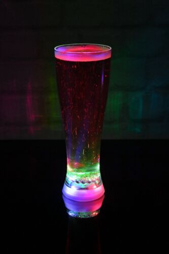 Strobing Party Cup Beaker Drinks BBQ GIFT FOR MEN Pint Light Up LED Beer Glass