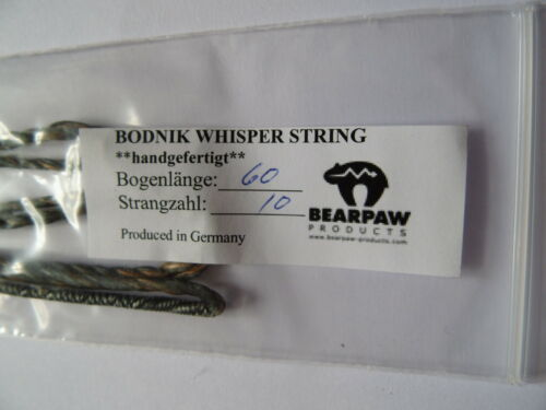 """70/"""" Longbow Henry Bodnik Fast flight Bogensehne Bearpaw Whisper String 48/"""""""