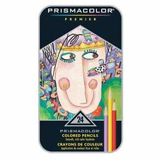 Prismacolor Premier Colored Pencils. Tin Box. 24 Color Set. NEW! FREE SHIPPING!*