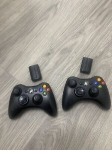 Microsoft-Xbox-360-X853164-005-Wireless-Controller-Lot-Of-2