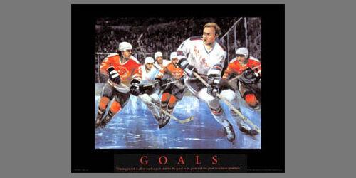 Hockey GOALS Motivational Art POSTER Print by artist T.C Chui