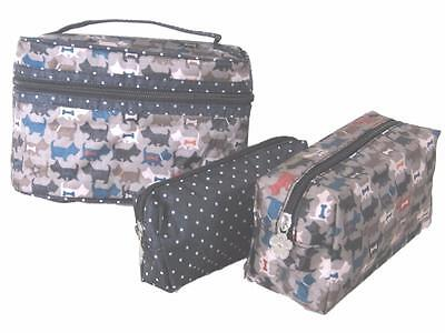 3 Borsa Cosmetici Set (a Zip Cani Scottie) Da Toilette, Lavare, Costituiscono, Makeup, Pochette Scotty-make Up,makeup,purse Scotty It-it Mostra Il Titolo Originale Materiali Di Alta Qualità Al 100%