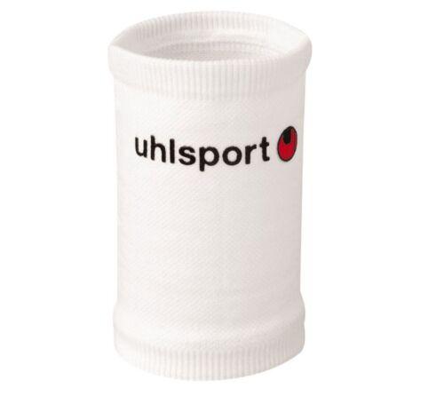 Uhlsport Tibia Support Durable Shinguard Sleeves Shin Pad Sleeve WHITE Senior