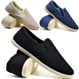 MENS-CANVAS-SHOES-SUMMER-SLIP-ON-CASUAL-BOAT-DECK-YACHT-PUMPS-PLIMSOLLS-TRAINERS