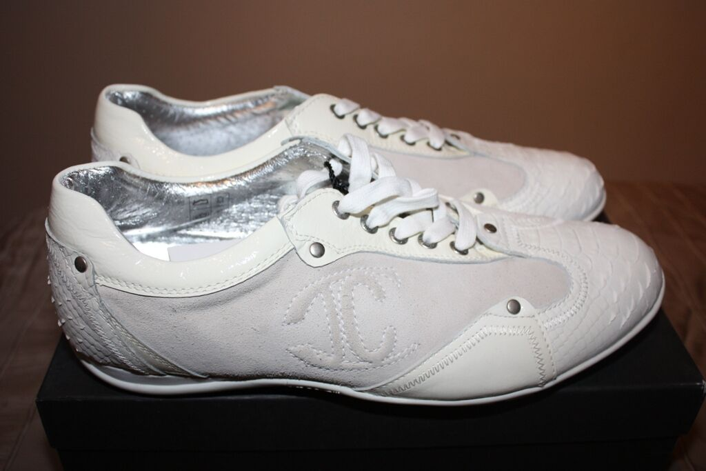 Just Cavalli Mens Snake Skin Leather Sneakers Size 45 or 12 Brand New