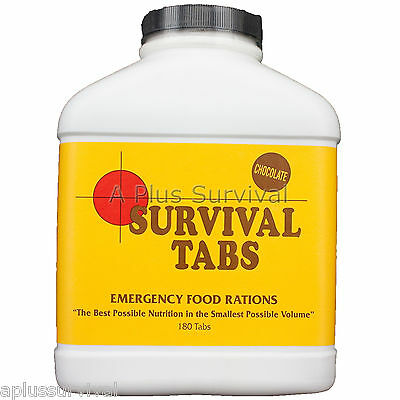 15 Day Food Supply of Chocolate Survival Tabs 10 Year Shelf Life Emergency Kit