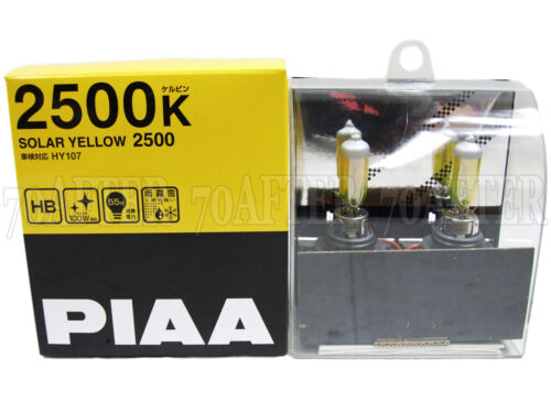 Made in Japan Piaa 2500K Solar Yellow 9005//HB3 Halogen Fog Light Bulbs