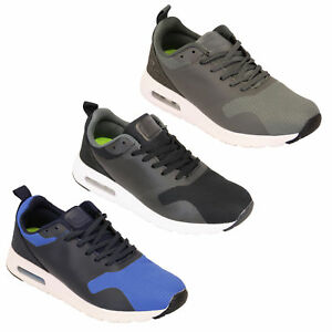 Mens Lace Sneakers Gym Running Active Pumps Trainers Up Bubble Shoes 0wOnm8vN