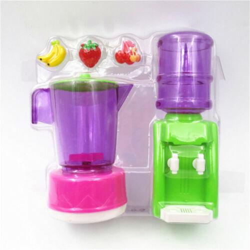 Doll Plastic Juicer Water Dispenser Set For  Kitchen Accessories KidODUS