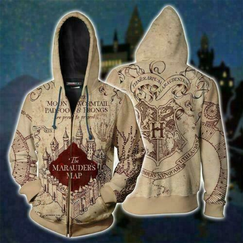 Harry Potter Hogwarts Golden Snitch Mens Hoodies Coat Tops Jumper Sweatshirt