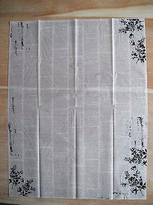 50x66cm Druckschrift Decoupage Papier Schrift Nostalgie shabby Decoupagepapier