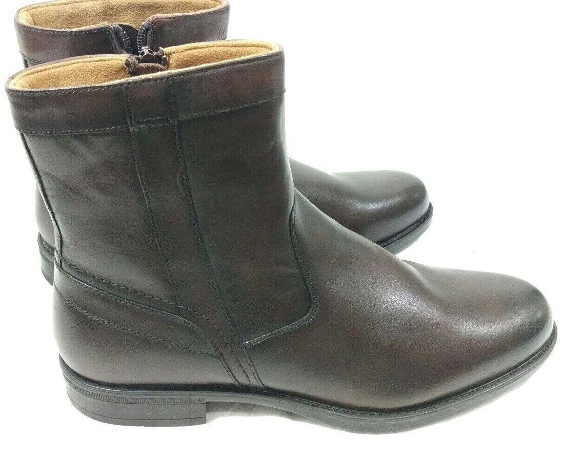 Florsheim Midtown Plain Toe Zip Boot Brown Leather comfort Support Size 9 D