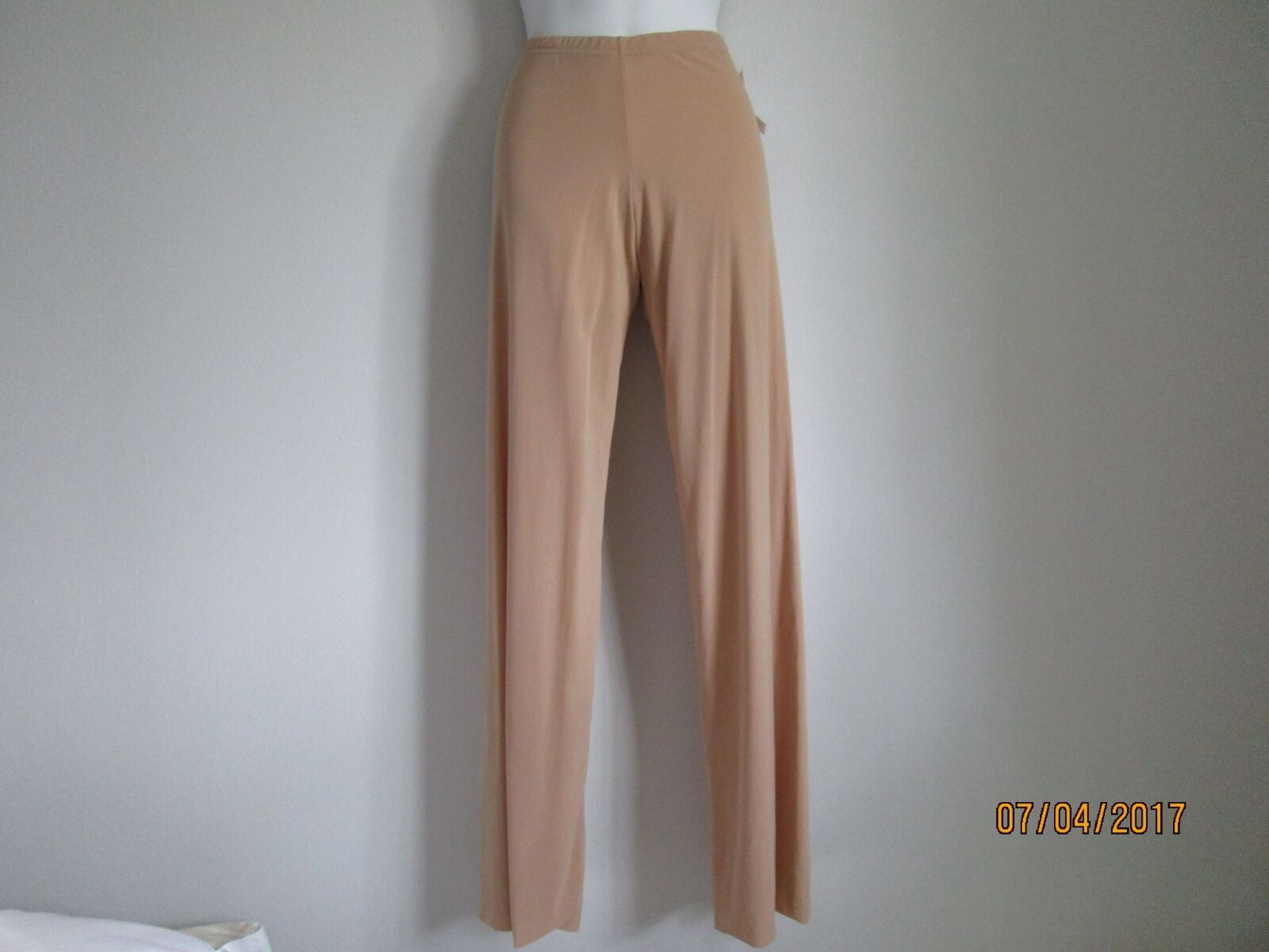NEW ALMERIA BROWN TAN POLYAMIDE ELASTANE WOMEN'S PANTS SIZE S  MADE IN ITALY