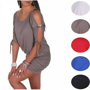 Glamour-Empire-Women-039-s-Open-Sleeve-Stretchy-Jersey-Tunic-Mini-Dress-157