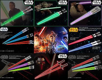 STAR WARS Lightsaber Chopsticks 2pcs Set Standard & Light-Up KOTOBUKIYA NEW