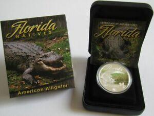 Tuvalu-1-dolares-2014-florida-natives-American-Alligator-1-Oz-plata