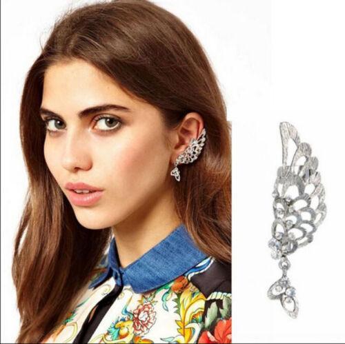 Fashion Crystal clip oreille Cuff Stud Femmes Punk Wrap Cartilage Boucle d/'oreille Bijoux