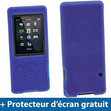 Bleu Étui Housse Silicone Coque Case Cover Sony Walkman MP3 NWZ-E575 NWZ-E574