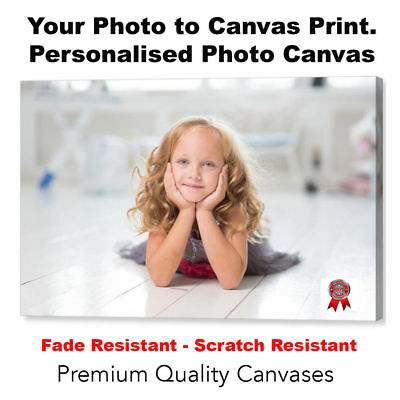"PHOTO ON CANVAS A1 Large 20/"" X 30/"" Your Picture Personalised Art to a Print"