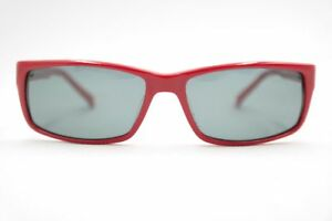 Vintage-Eschenbach-Crush-855086-50-2030-51-14-Red-Oval-Sunglasses-NOS