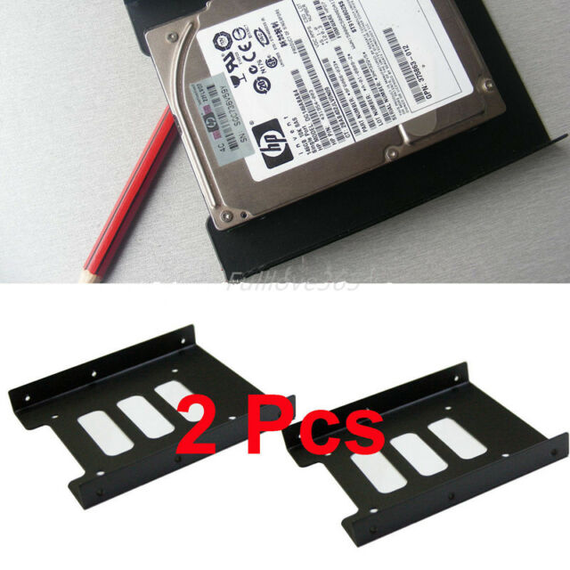 """2X 2.5"""" to 3.5"""" SSD HDD Metal Adapter Mounting Bracket Hard Drive Holder for PC"""