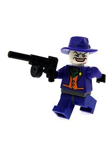 Classic Jester Joker Printed On LEGO Parts Custom Designed Minifigure