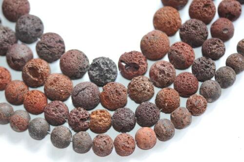 porosos E6-05/_14 mm Braun-roja lava barroco-balas Strang