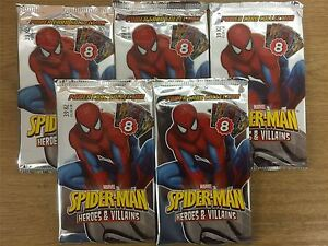 Spiderman-Heroes-And-Villains-Factory-Sealed-Packet-x5