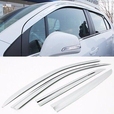 Chrome Window Visor Wind Rain Vent 4pc for 2013 2017 Chevy Trax