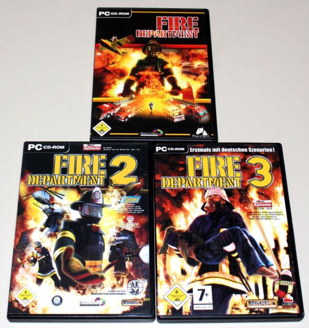 3 pc jeux Bundle-Fire Department 1 2 3-Pompiers Simulation Simulateur