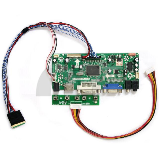 HDMI+DVI+VGA LCD Lvds Driver Converter Monitor Kit for N101L6-L02 Panel 1024X600