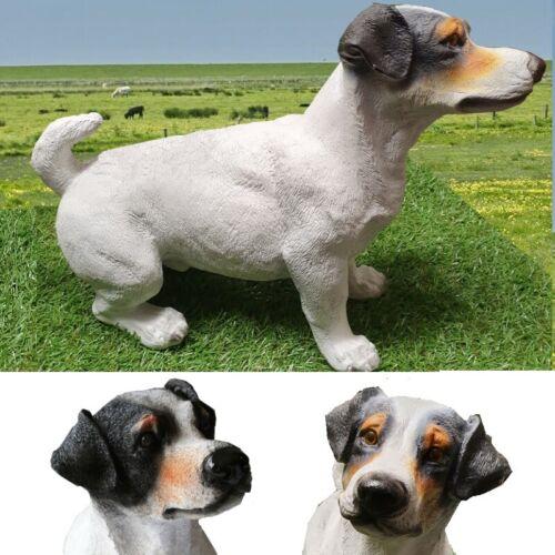 Gartenfigur Hund JACK RUSSEL Terrier 45cm stehend 3520 Deko Figur lebensecht
