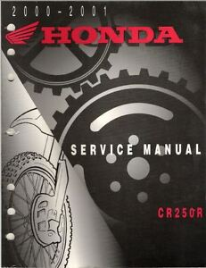 Manuale Officina Service Manual Honda CR 250 2000 2001 [ENG]