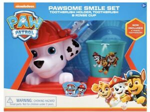 NEW-Paw-Patrol-MARSHALL-Smile-TOOTHBRUSH-SET-Kids-Gift-toothpaste