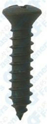"Clipsandfasteners Inc 100 #10 X 1-1//4/"" Phillips Oval Head Screws Black Oxide"