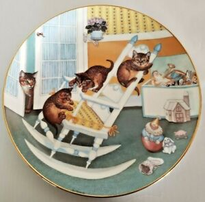 """Cat Kitty Collector Plate """"Rock and Rollers"""" Country Kitties Artist Gre Gerardi"""