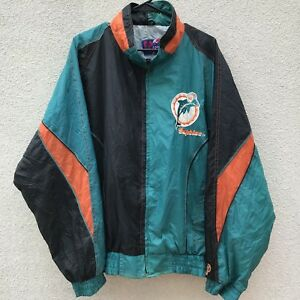 b866cb54 Details about Miami Dolphins Vintage 90s Light Windbreaker Jacket Zip  Embroidered XL #O