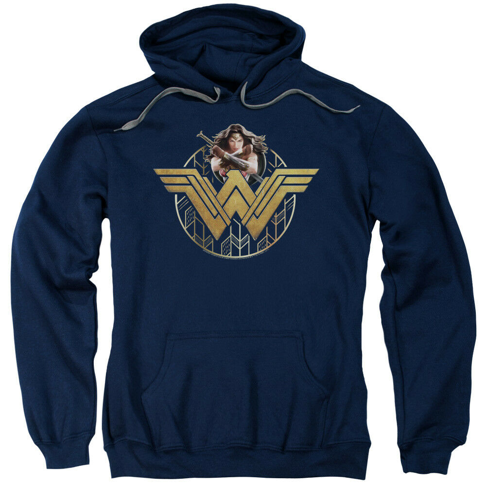 Wonder Woman Movie Power Stance And Emblem Pullover Hoodies for Men or Kids